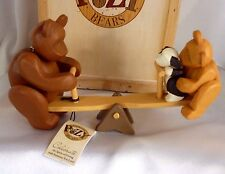 Celebration Wooden Gift Craft Pozy Bear Simple Pleasures Teeter Totter Figurine