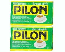 2x Cafe Pilon Decaf Espresso Ground Coffee 10 oz