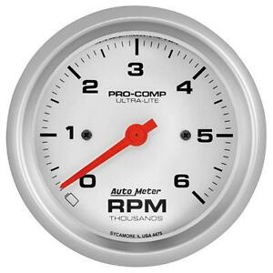"""UNIVERSIAL DODGE FORD CHEVY AUTO METER 4475 ULTRA-LITE 3-3/8"""" IN-DASH TACHOMETER"""