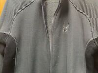 SPYDER GREY AND BLACK FLEECE FULL ZIP SWEATER JACKET Mens X-LARGE Style 11-3570