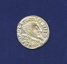 POLAND SIGISMUND 1596-HR  3 GROSCHEN (GROSSUS)(TROJAK) SILVER COIN, WSCHOWA MINT