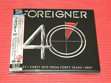 2017 JAPAN 2 SHM CD FOREIGNER 40/40 FORTY HITS FROM FORTY YEARS  DIGI SLEEVE