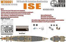 Hunter 1/700 w70061 Madera Deck Ijn ISE aviones Acorazado De Fujimi