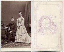 CIVIL WAR ERA COUPLE MAN   WIFE RUDOLPH MAYER CASTLE PLACE BELFAST VINTAGE CDV