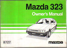 Mazda 323 1100 1300 1500 1600 Diesel 1985-87 original Owners Manual (Handbook)