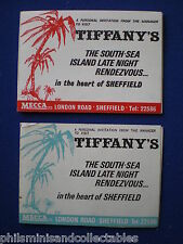Mecca  Tiffany's  Sheffield  2 x Tickets  from 1970