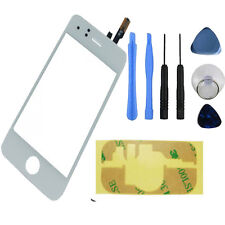 iphone 3G Front Touch Screen Digitizer Glass Lens Panel Tools + Sticker White UK