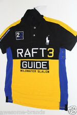 Polo Ralph Lauren Yellow Big Pony Shirt Custom-Fit Rafting River Slalom medium M
