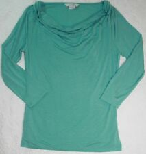 Boden Soft Jersey Cowl Neck Top Light Turquoise Green UK 10 US 6