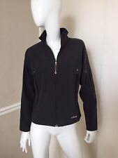 REI Women's Charcoal Gray Fleece Lined Nylon Zippered Light Fitted Jacket Sz M