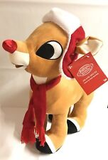 """Large 20"""" Rudolph Red Nosed Reindeer Plush Christmas Greeter Stuffed Animal Gift"""