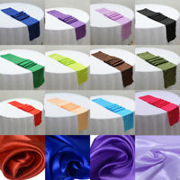 108'' x 12'' Silky Satin Table Runner Party Decoration Wedding Supply Fashion