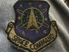 Space Command Us Air Force Patch subdued Usaf Vintage Original
