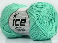 Mint Green Cotton Bamboo Yarn Ice #41446 Baby / Sport Weight 50 Gram 153 Yards