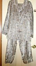 Ladies ETONNE' SARAH RICHARDS 2-Piece Pajama Set XL Leopard