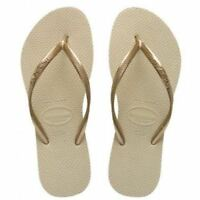 Havaianas Slim Brazil Women's Flip Flops Sand Grey Size US-9/10 EUR-41/42