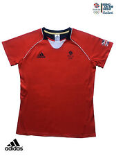 ADIDAS TEAM GB ISSUE RIO 2016 ELITE ATHLETE RED EVENT TEE-SHIRT Size 6 Chest 32""