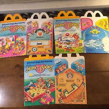 3 Vintage McDonald's 1987 Muppet Babies Happy Meal Boxes