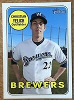 2018 Topps Heritage High Number Christian Yelich #720  Short Print Brewers