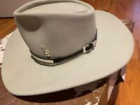 Rare Roy Rogers White Cowboy Hat with Sterling Silver Band Size 7 1/4L Long Oval