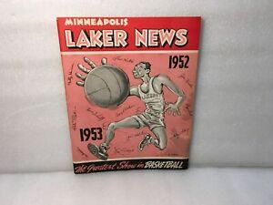 1952-53 Minneapolis Lakers vs Indianapolis Olympians Program / Yearbook #4
