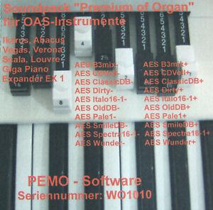 """PEMO Software Soundpack """"Premium of Organ"""" für Wersi OAS und OAX Instrumente"""