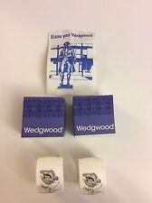 2 NEW WEDGWOOD Bone China GLEN MIST Napkin Ring/Holders Original Boxes ENGLAND