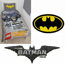 Lego Batman Kapow Single Duvet Superheroes Quilt Cover Bedding & Bat Cave Rug