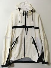 VTG Polo Sport Ralph Lauren Men's XXL Ivory Full Zip Windbreaker Vented Jacket