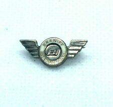 Vintage Braniff International Airlines Service Pin Sterling Silver Flying Flight