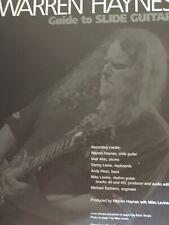 Warren Haynes: Guide to Slide Guitar - Warren Haynes/Mike Levine (Book with CD)