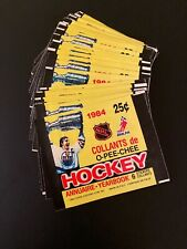 (LOT OF 50)!! 1984-85 OPC Sticker Pack Wrappers Wayne Gretzky