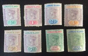 QV Leeward Islands Set - Unused Condition SG 1-8