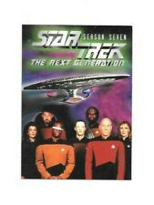 1999 STAR TREK THE NEXT GENERATION SEASON SEVEN PROMO CARD FREE SHIPPING