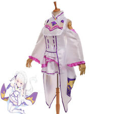 Re:Life In A Different World From Zero Emilia Anime Cosplay Costume Womens Dress