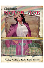 new hot rod Poster 11x17 Motor Age Cover Art Classic Car April 1950 Pin Up Girl