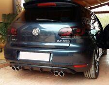 Cenefa Trasero VW Golf MK6 (con 2 orificio de escape) (2008-2012)
