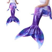Adult Womens Girls Mermaid Tail Swimwear Swimming Beachwear Cosplay Costume