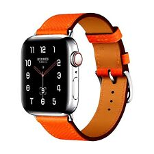 Apple Watch Series 4 Hermes 40mm Feu Epsom Leather Single Tour Cellular A2007