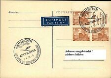 Berlin Bauten Zusammendruck a/ Postkarte Stempel München Flughafen Luftverkehr