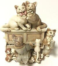 Harmony Kingdom Limited Edition Mrs. Barton's Upright Piano Cat Box Figurine