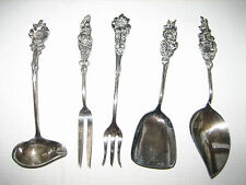 5 Pieces REED & BARTON Small Service Silver Plate Flatware - Ladle, Jelly, etc