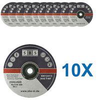 10 DISQUES TRONCONNER 230 x 2 MM MEULEUSE TRONCONNEUSE ACIER METAL INOX