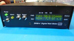 LDG DWM-4 Digital Watt SWR-Power Meter + 4 Sensors HF & VHF Manual & AC Adapter