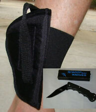 ANKLE Conceal. GUN Holster  S & W 638  LEFT HAND W/ FREE FOLDING KNIFE  709L