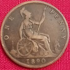 1890 Great Britain One Penny - 1p -Queen Victoria - UK