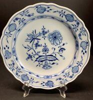 Antique 1934 Meissen Pottery 8 1/2 Luncheon Plates Blue White Onion Cross Swords