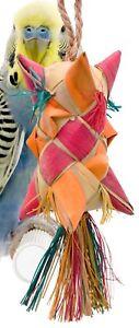 03422 Small Carnival Bird Toy Cage Foraging Chew Shredder Parakeet Cockatiel