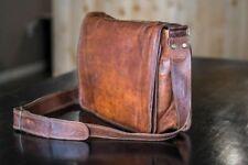 Men's Genuine Leather Vintage Unisex Messenger Handmade Briefcase Bag Satchel