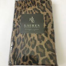 Ralph Lauren Aragon Leopard Neutral 2 Standard Pillowcases NEW NIP